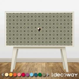 Customiser meuble IKEA revetement adhésif motif losange