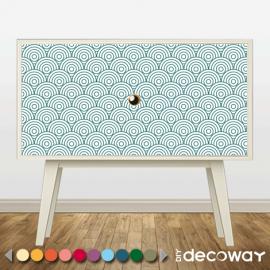 Rénover meuble avec adhésif motif cercle