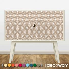 Sticker décoratif pour meuble style etoile