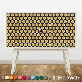 Sticker décoratif pour meuble style hexagone