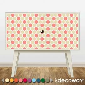Sticker décoratif pour meuble style nid abeille
