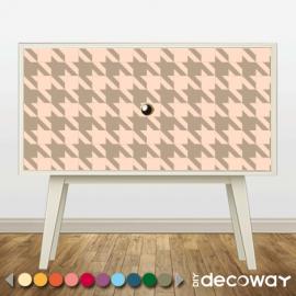 Sticker décoratif pour meuble style pied de poule