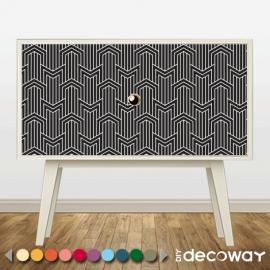 Décorer meuble, armoire, objet, étagère, paravent avec revetement adhesif à motif art deco