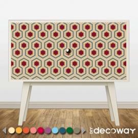 Sticker ou papier peint imprimé pour meuble style géométrique