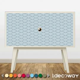 Sticker décoratif pour meuble style vague