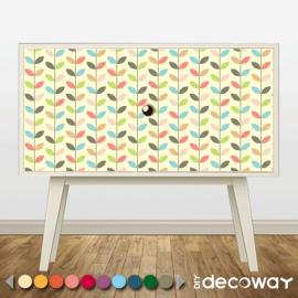 Sticker décoratif pour meuble style vintage feuille