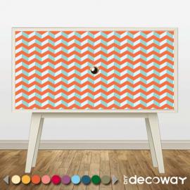 Sticker décoratif pour meuble style zig zag