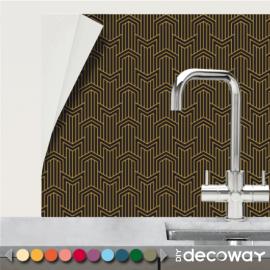 Adhésif carrelage cuisine salle de bains motif Rayure