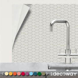 Carrelage Mural Adhesif cuisine salle de bains motif Vague