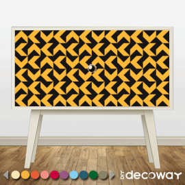 Relookez vos meubles avec des motifs géométriques style variation