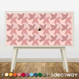 Sticker meuble motif Interlock inspiré de MC Escher