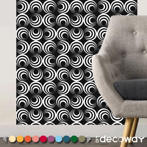 Papier peint RETRO motif design psychédélique des années 70