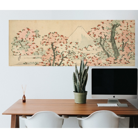 Papier peint Fuji et Fleurs de cerisier