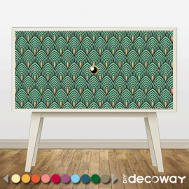 DIY Deco Customise meuble motif art deco peacock