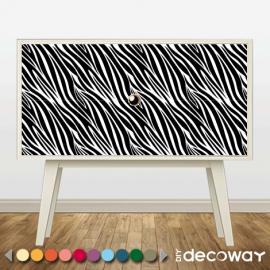 DIY Deco Sticker meuble motif peau de zèbre