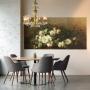Papier peint panoramique Couronne de Roses Blanches